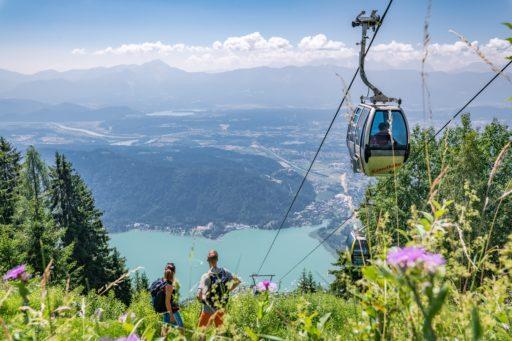 Blick von der Gerlitzen-Kanzelbahn auf den Ossiacher See